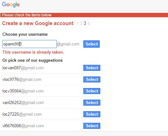 Bước 4: Chọn tên truy cập ưng ý, nhấn Select để qua bước thiết lập mật khẩu  như hình dưới:
