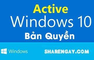Hướng dẫn kích hoạt bản quyền Windows, Office an toàn - miễn phí