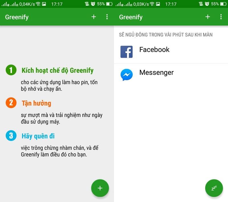 su dung greenify 5