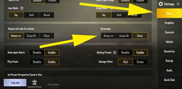 thiet lap con quay hoi chuyen trong pubg mobile 5