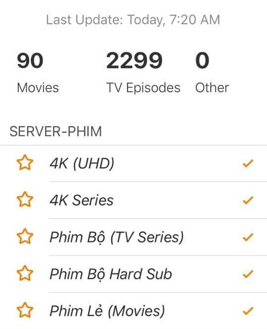 so luong va playlist mi da update len server 2